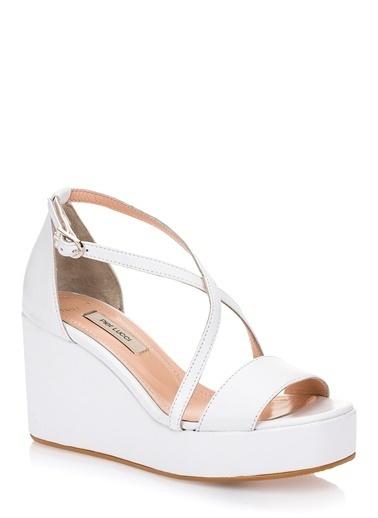 Pier Lucci Hakiki Deri Ayakkabı Beyaz